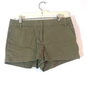 J.Crew Olive Green Chino Shorts {Size 8}
